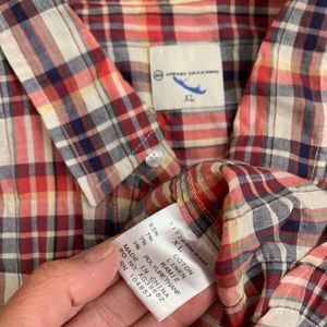 Ag Adriano Goldschmied Shirts - AG Lightweight Cotton Plaid Button Down